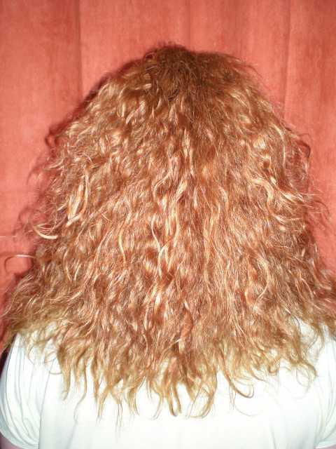 Завивка на волосы до лопаток фото - d6