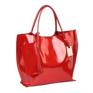 c3d7f48759c0 Агрессивная красная или черная сумка из лакированной кожи может  понадобиться в боевом расположении духа. ЖЕНСКАЯ СУМКА GAUDE ...