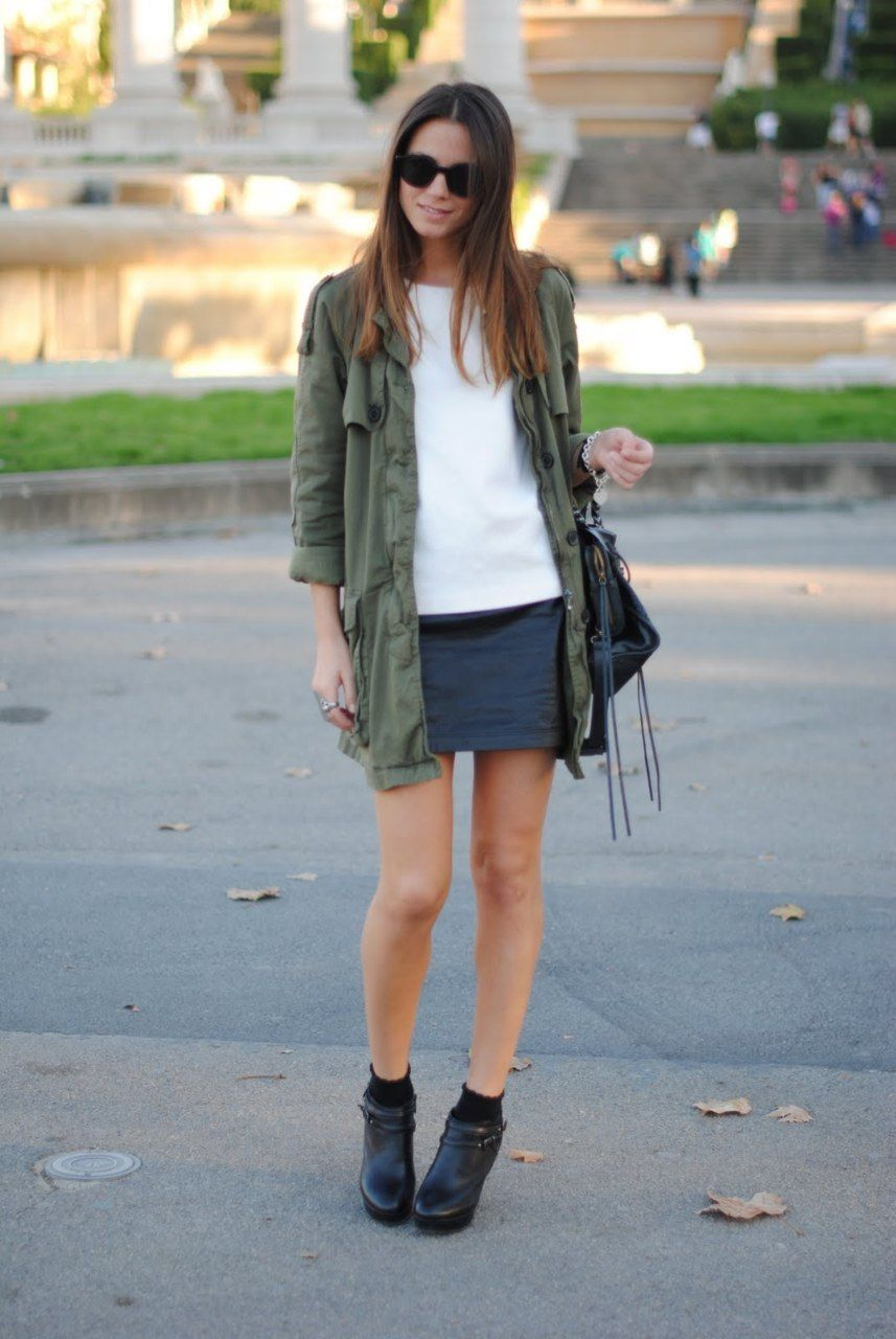 Army Green Jacket Outfit
