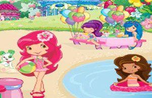 Çilək qız plaj partysi